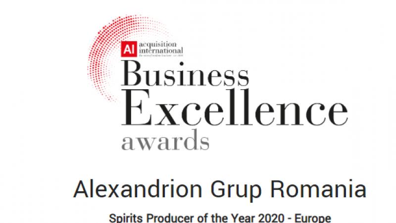 Alexandrion Group, cel mai bun producator de bauturi spirtoase din Europa, in 2020