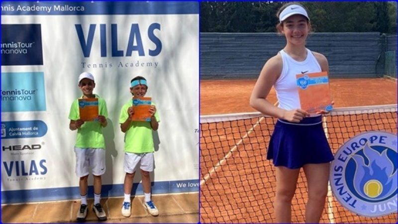 Triumf pentru 3 juniori romani in Spania, la Vilas Cup U12, turneu Tennis Europe de Categoria 1