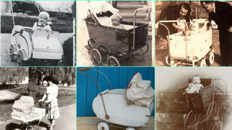 Fotografii de poveste din copilaria leganata in carucior…