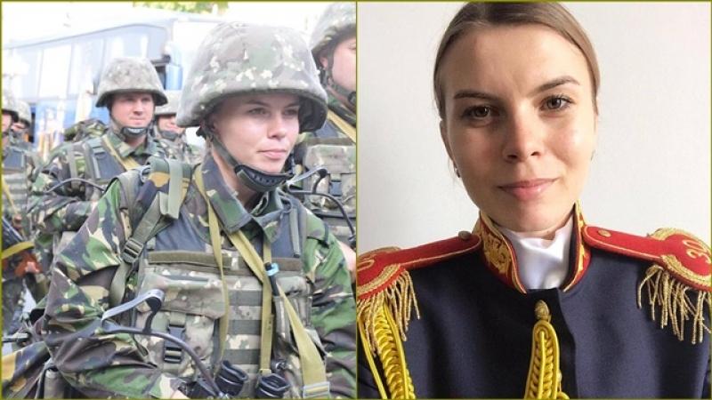 Printre Oamenii Gărzii de Onoare: Sublocotenent Roxana Preda