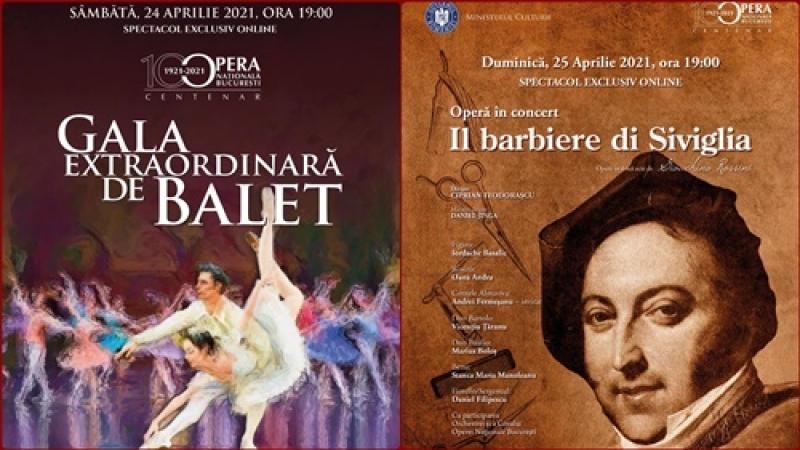 "DARURI MUZICALE: ""Gala Extraordinara de Balet"" si ""Barbierul din Sevilla""- opera in concert, transmise online de ONB"