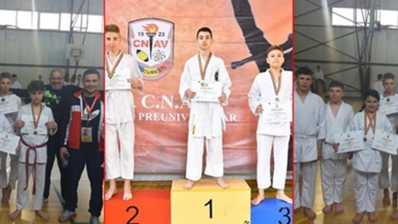Pe podium, la Bucuresti: Bravii sportivi kata de la Plopeni