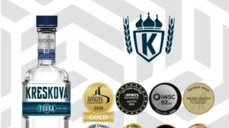Kreskova Vodka: Medalie Master la The Vodka Masters 2020 si alte 11 medalii la competitii internationale prestigioase