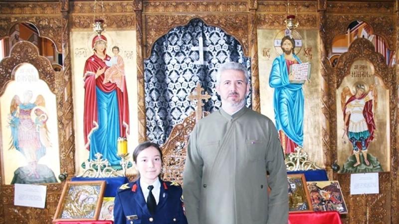 O elevă a Colegiului Național Militar DIMITRIE CANTEMIR- Breaza, la Faza Națională a Olimpiadei de RELIGIE