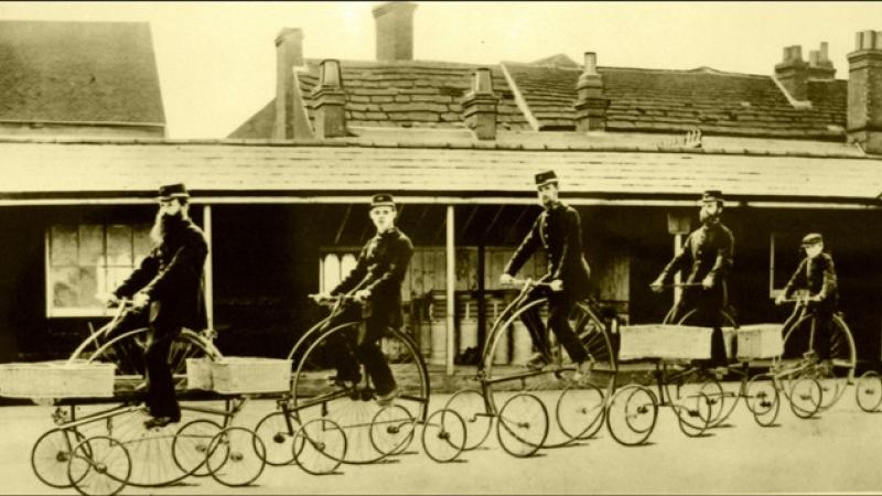 Fotografie de colectie din istoria… bicicletei