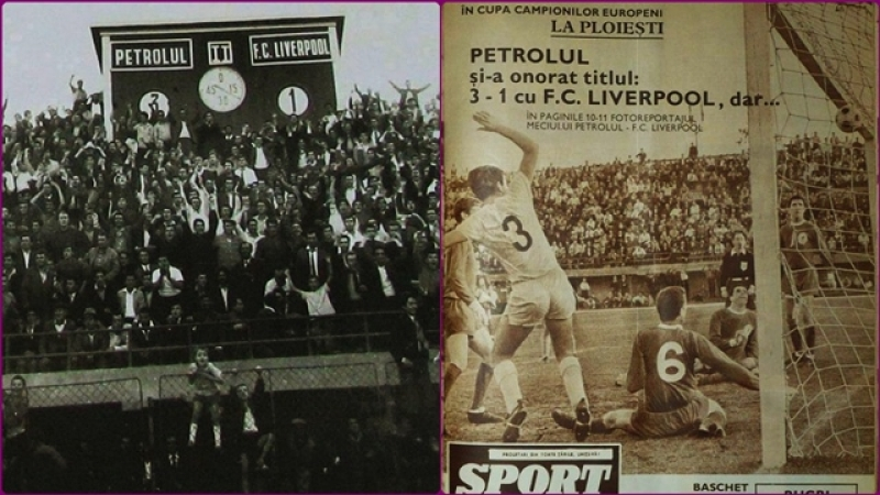 53 de ani de la uriasa victorie! Petrolul-Liverpool 3-1!