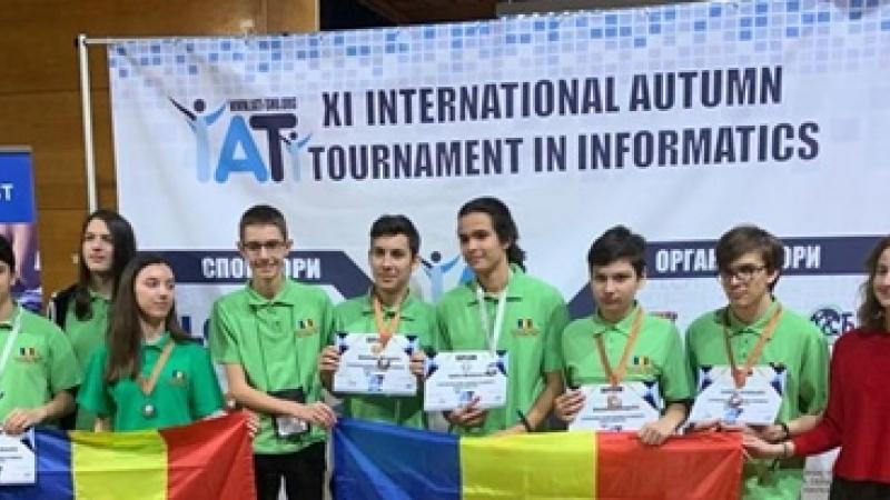 MERITA APRECIERI: Echipele Romaniei (juniori și seniori), 6 premii la a XI-a editie a Turneului International de Informatica Shumen:2medalii de argint si patru medalii de bronz