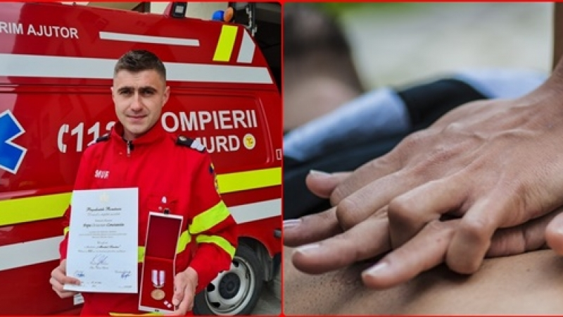 Paramedic prahovean decorat de Presedintele Romaniei