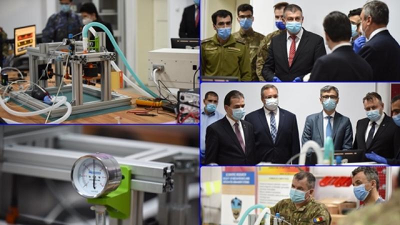 "Ventilator mecanic proiectat de Academia Tehnica Militara ""Ferdinand I"""